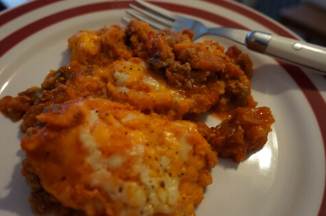 Sweet Potato Turkey Cottage Pie by Kelly from To Become Mum