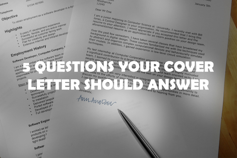 5 Questions Your Cover Letter Should Answer
